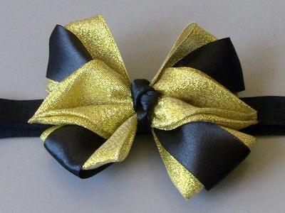 Laço com fitas de cetim e organza Passo a Passo - -D.I.Y ,PAP -Satin ribbon bow