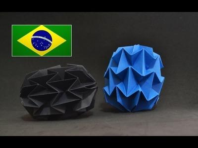 Origami: Mini Bola Mágica - Instruções em português PT BR