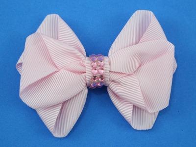 Passo a passo: Laço de fita de gorgurão. DIY Grosgrain ribbon bow