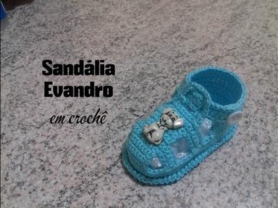 Sandália Evandro em crochê