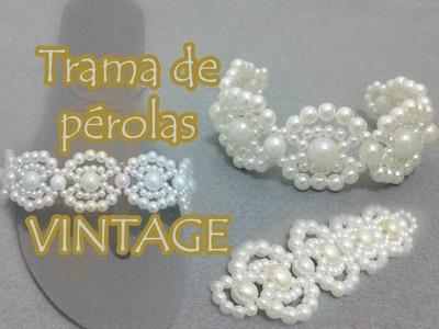 Trama de pérolas Vintage