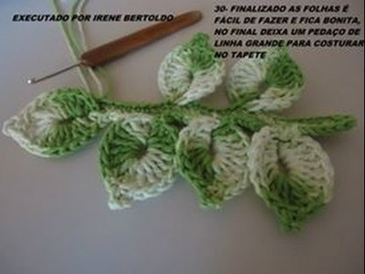 Vídeo aula Folha básica em crochê para aplicar em diversos trabalhos. Cristina Coelho Alves