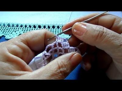 Bico em crochê com borboletas - vídeo 01.02