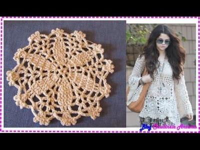 Blusa em Croche Selena Gomez - Aula 2-  Motivo 2