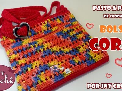 Bolsa Coral - JNY Crochê