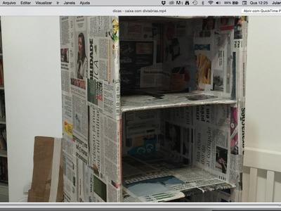 Dicas -  caixa com divisórias  #parte1 ✂️ Artesanato
