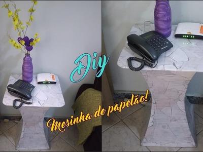 Faça você mesmo | Mesinha para telefone feita com papelão!