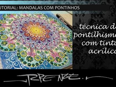 Iniciando - Mandala com Pontinhos e tinta acrílica