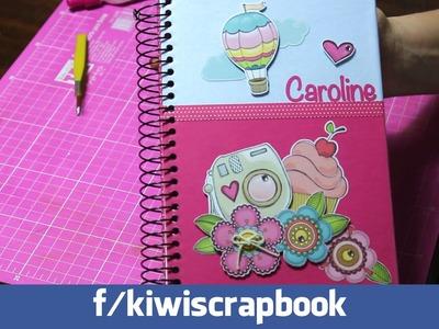 Montando uma agenda personalizada com scrapbook