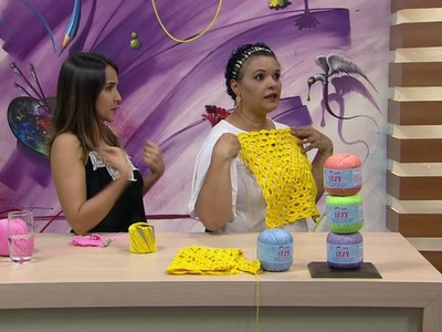 Mulher.com - 10.10.2016 - Cropped em crochê - Noemi Fonseca  PT2