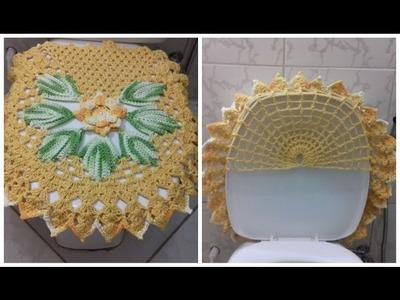 Passo a Passo do Jogo de Banheiro em Crochê - Capa do Vaso 3.3 por Cristina Coelho Alves