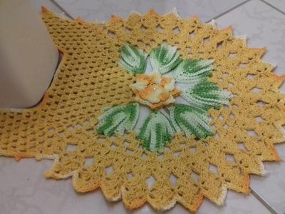 Passo a Passo do Jogo de Banheiro em Crochê - Tapete do Vaso 1.3  por Cristina Coelho Alves