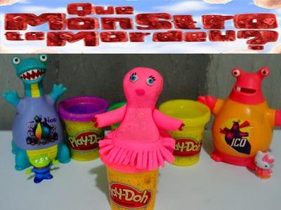 QUE MONSTRO TE MORDEU?  LUISA  Poltrona Rosa com PLAY DOH #1