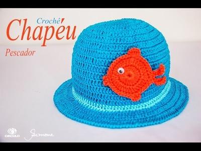 Chapéu em Crochê | Pescador | Passo a passo | Professora Simone