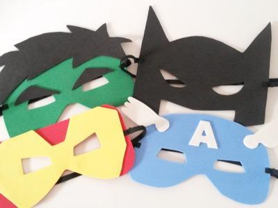 Como fazer Máscaras de Super Heróis