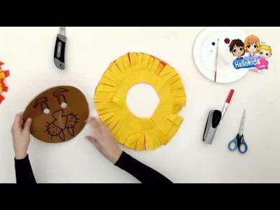 Como fazer uma máscara de Leão (Hellokids)