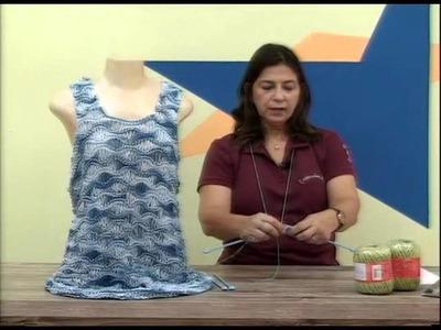 Cristina Amaduro - Saída de praia em tricô