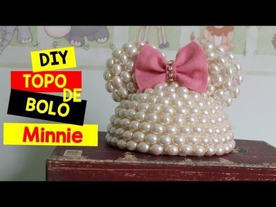 DIY: Topo de Bolo Minnie Rosa + Surpresa