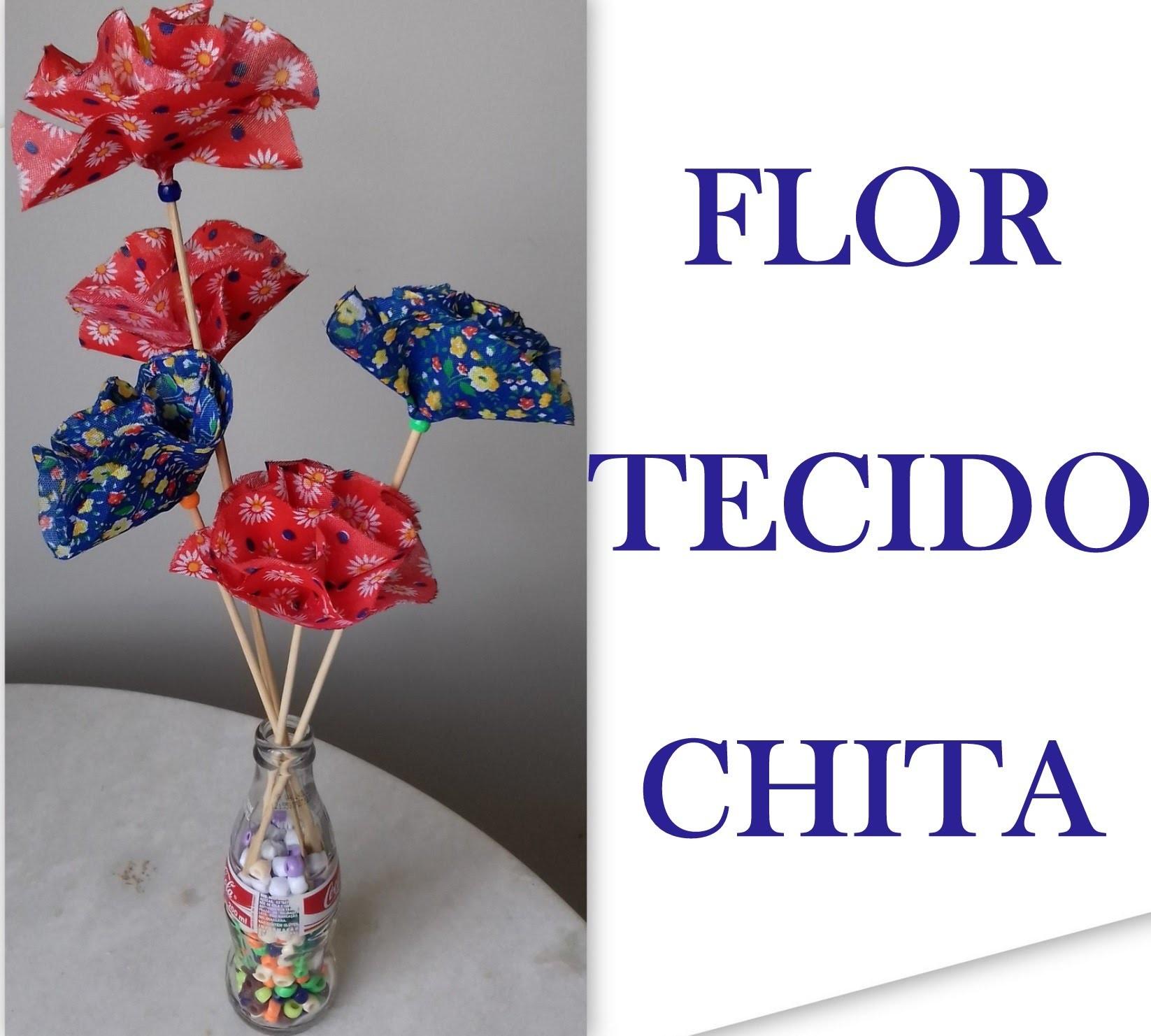Flores De Tecido Flor De Chita Aprenda Como Fazer Passo A Passo