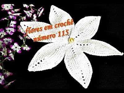 Flores em Croche 115 | Flor de Crochê Euroroma | Parte 1