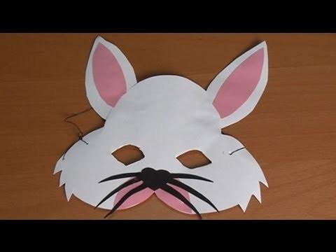 Máscara de coelho, fantasias caseiras de carnaval