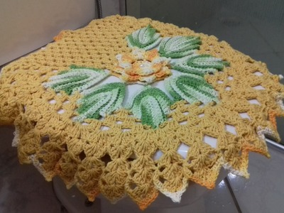 Passo a Passo do Jogo de Banheiro em Crochê - Capa do Vaso 1.3 por Cristina Coelho Alves