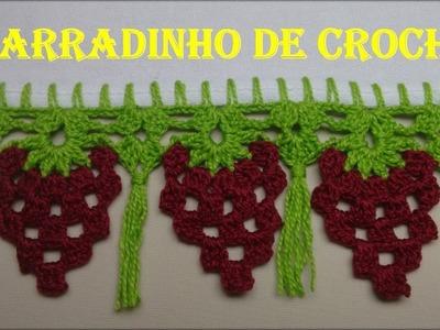 Barradinho de Crochê Fácil Uvas e Franjas