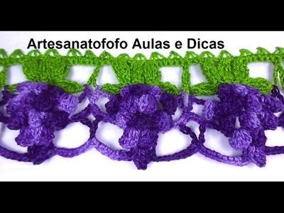 Barrado de Crochê Uvas - CROCHÊ 60 - PASSO A PASSO