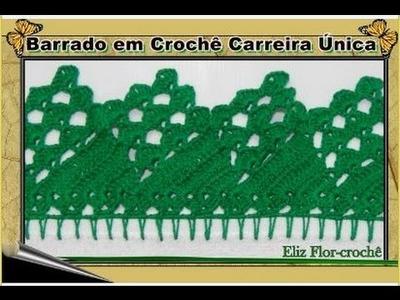 Barrado em Crochê Carreira Única P. Pano de Prato e Toalhas #70