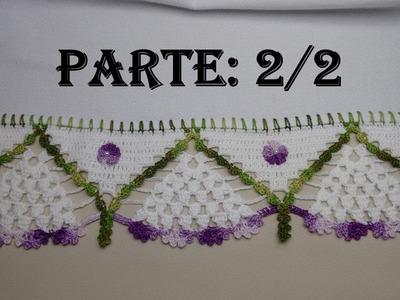 Bico de Crochê para Toalhas Pano de Prato - Parte: 2.2 Wilma Crochê