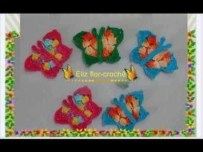 Borboleta em crochê, imã de geladeira. aplicação em panos de pratos ou toalhas