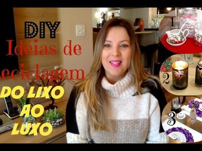 #DOLIXOAOLUXO - 3 IDEIAS DE RECICLAGEM PARA SUA DECORAÇÃO