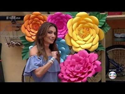 É de Casa - Veja como fazer flores de papel para decoração - 01.10.2016