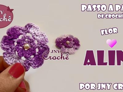 PAP Flor Aline de crochê - JNY Crochê