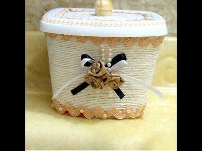 Porta Cotonete com Pote Reciclado