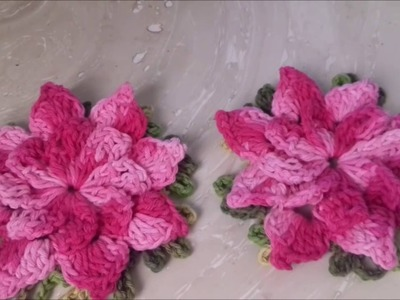 VÍdeo Aula da Flor Catavento em Crochê.  com  Cristina Coelho Alves