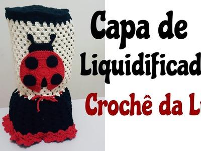 Capa de liquidificador em crochê - Jogo de cozinha Joaninha