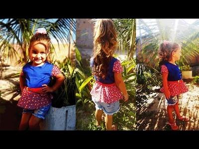 Costura blusa peplum infantil- Da série retalhos