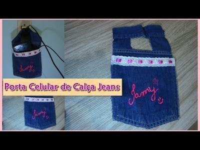 #DIY - Porta Celular de Calça Jeans por Tamysturado