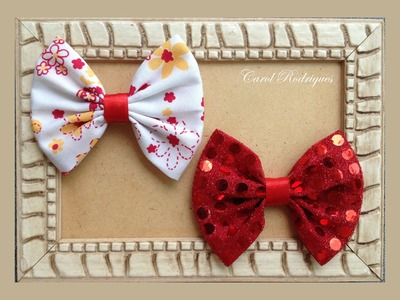 Laço de tecido sem usar máquina - Laço de tecido tradicional - DIY Fabric Bow