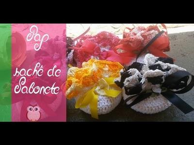 Pap Sachê de Sabonete em Croche (cestinha)