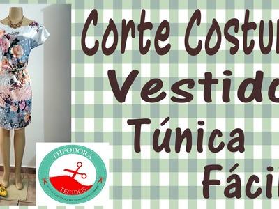 Vestido Túnica para iniciantes - Curso de Corte e Costura com passo a passo
