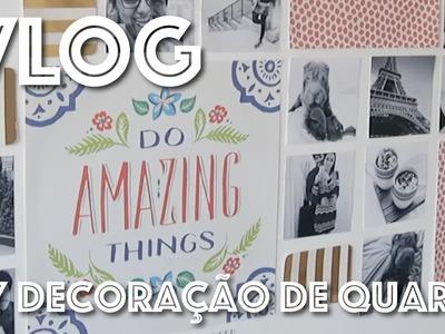 VLOG | DIY DECORAÇÃO DE QUARTO COM SCRAPBOOKING
