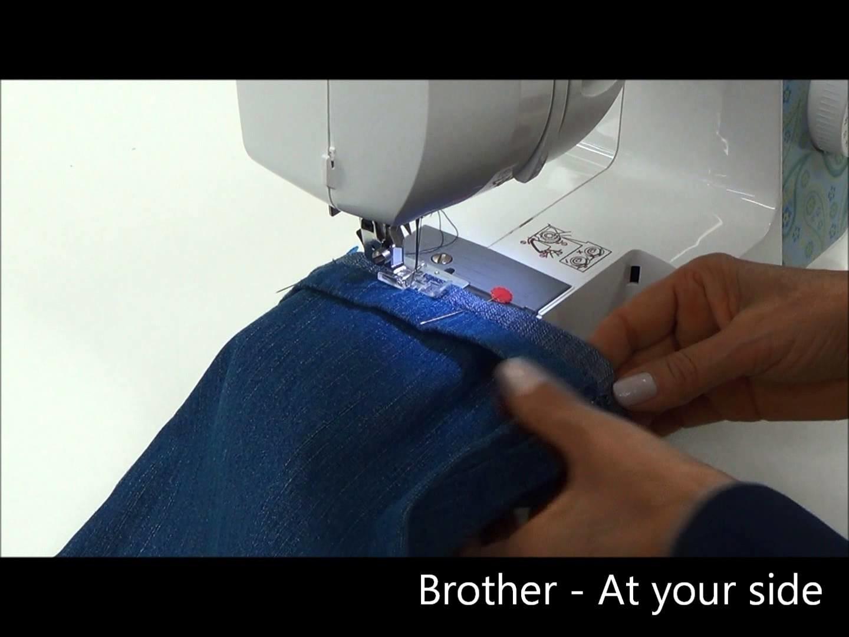Barra de calça com a máquina de costura BM3700 - Brother