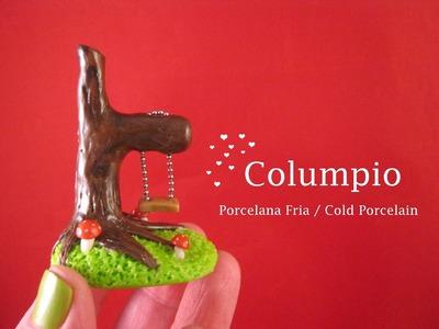 Columpio en Porcelana Fria. Cold Porcelain
