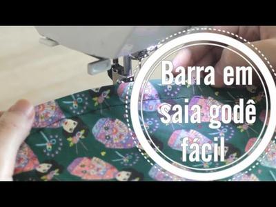 Como fazer bainha em saia godê ::: Dica de costura
