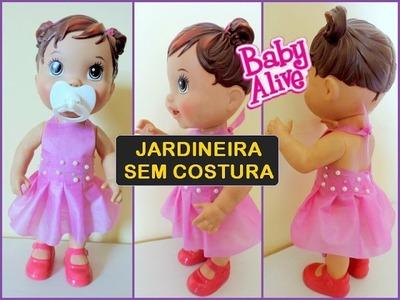 COMO FAZER UMA JARDINEIRA PARA BABY ALIVE SEM COSTURA!