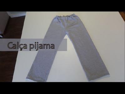 Costura da calça pijama