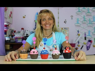 Cupcakes de Biscuit (Lembrancinhas para festas) com Márcia Nunes