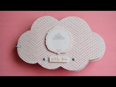 Mini álbum en forma de nube para bebé * Scraptools